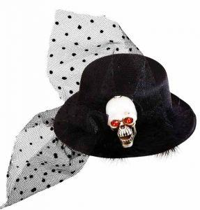 Мини шляпка ''Череп''