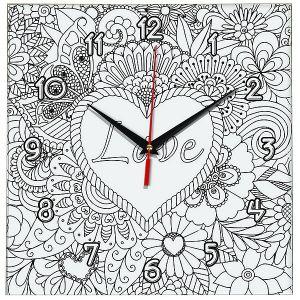 Часы раскраска Love