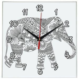 Часы раскраска Слон