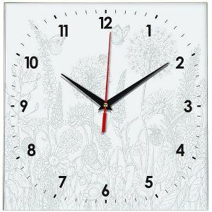 Часы раскраска Цветы