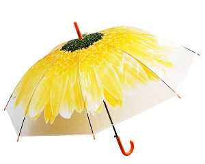 Зонт-трость Цветок желтый
