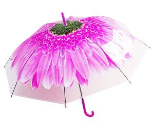 Зонт-трость Цветок розовый