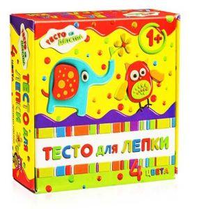 Тесто для лепки упаковка 4 цвета