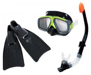 Набор для подводного плавания черный, размер 41-45