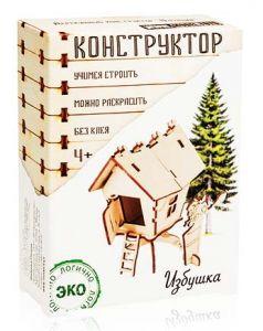 Деревянный конструктор Избушка