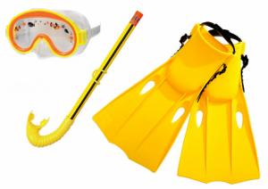 Набор для подводного плавания  (Маска, Трубка, Ласты, размер 35-37)