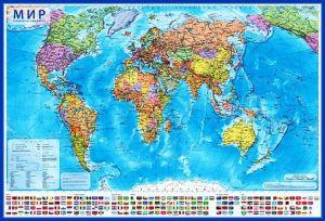 Мир Политический (1:55М, 59х40 см)