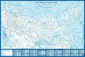 Контурная карта РФ настенная