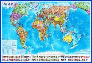 Мир Политический (1:32М, 101х70 см)