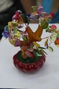Дерево самоцветы  (стекло, 16см.)