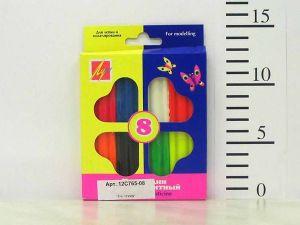 Пластилин флуоресцентный 8 цветов