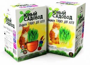 Набор Юный садовод 'Вырасти травку для кота'