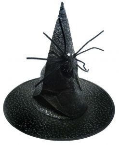 Колпак Ведьмы с пауком (черный)