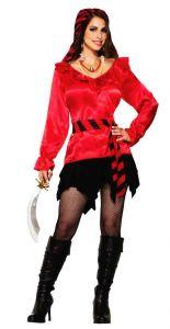 Блуза пиратки красная