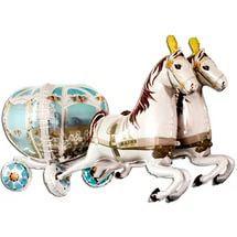 Шар-фигура Карета свадебная с лошадьми (50см/190 см)