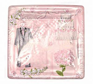 Тарелки бумажные Свадьба (8шт, 25 см)