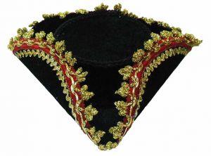 Шляпа-мини с золотым ободком (15см)