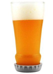 Стеклянный бокал пивной Бутылка (17 см)