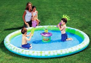 Надувной центр-бассейн Ладошки с генератором мыльных пузырей