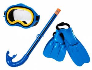 Набор для подводного плавания синий, размер 38-40