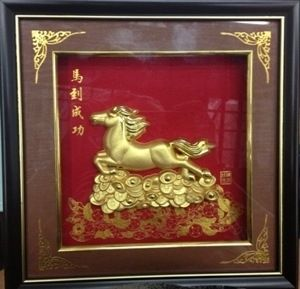 Картина под стеклом Лошадь ( 25х25см)