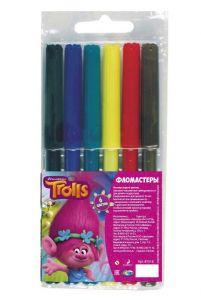 Фломастеры 'Тролли', 6 цветов