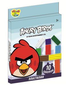 Пластилин  Angry Birds (200 гр.10 цветов)