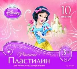 Пластилин Принцессы, 10 цветов