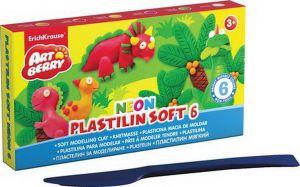 Пластилин мягкий NEON (6 цветов/120г)