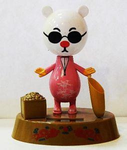Подставка Мишка в очках (флип флап, 13 см)